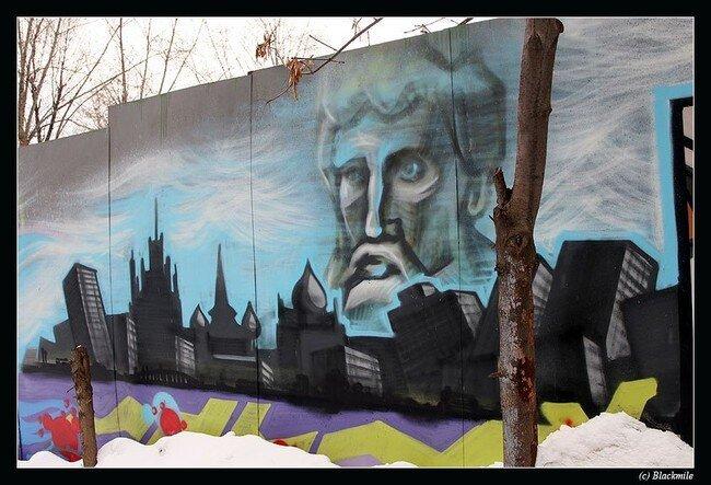 История Москвы в граффити (13 фото)