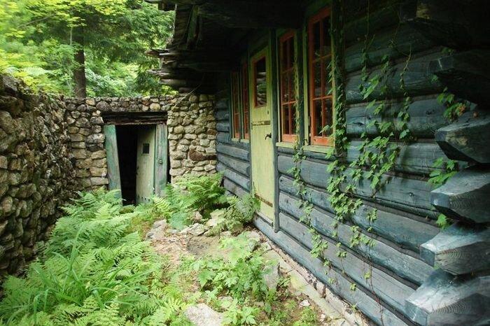 Необычный заброшенный дом в лесу 46 фото
