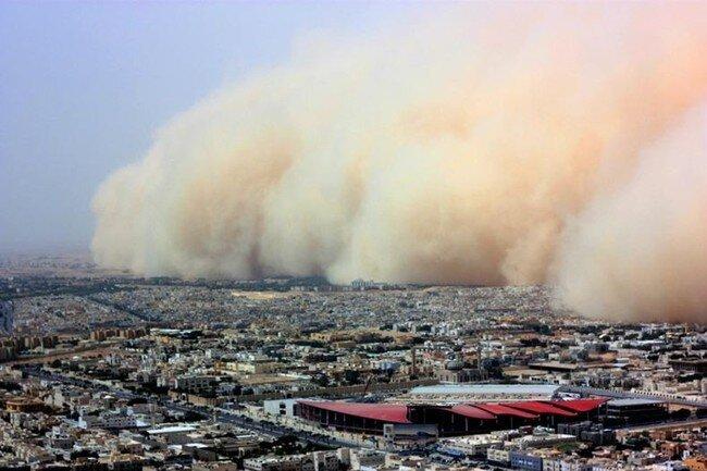 Саудовскую Аравию накрыла песчаная буря (10 фото)