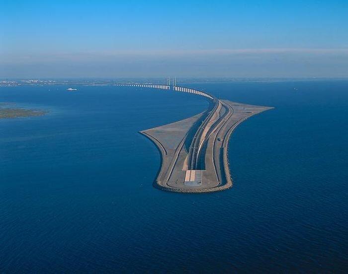 Эресуннский мост-тоннель (17 фото)