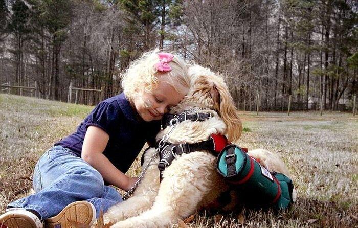 Девочка и собака связаны поводком жизни (4 фото)