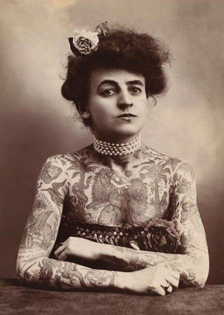 Винтажные татуировки (19 фото)