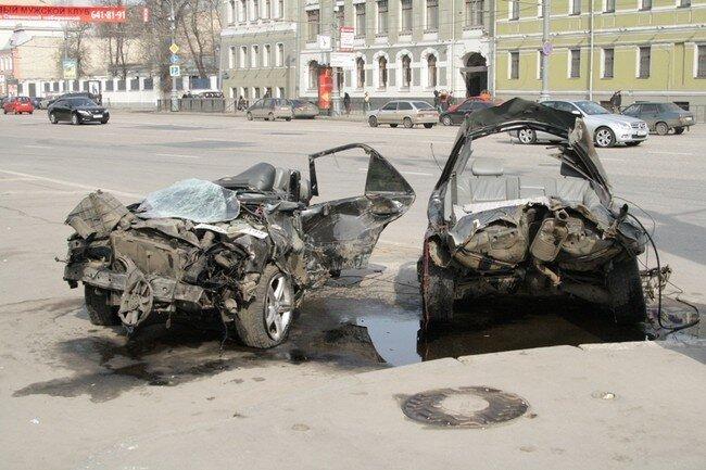 Происшествие на Новинском бульваре (5 фото)