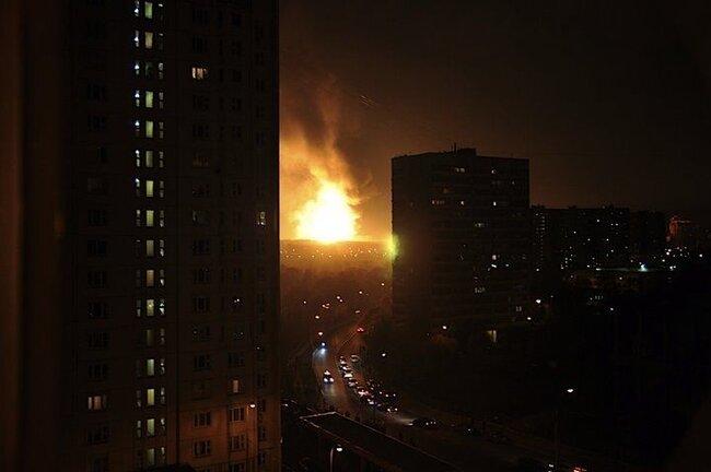 Газовый факел Москвы (44 фото + 2 видео)