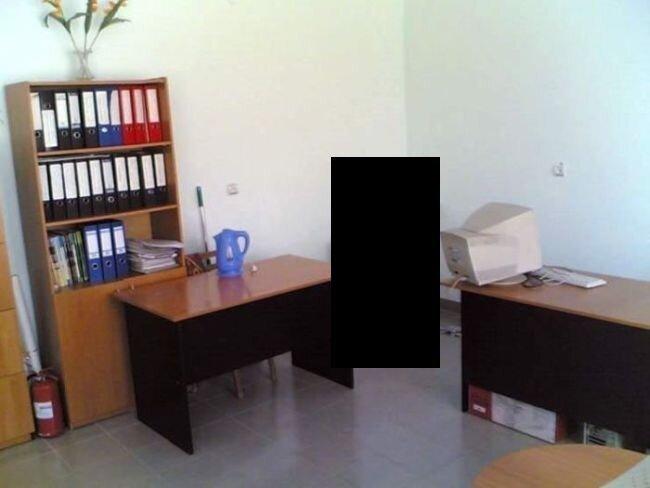 Офис настоящих трудоголиков (2 фото)