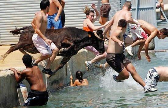 В воде с бычками (9 фото)
