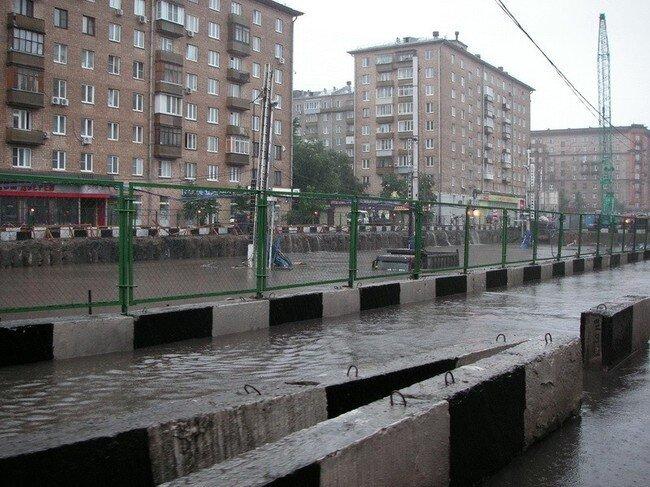 Немного про потоп в Москве (9 фото)