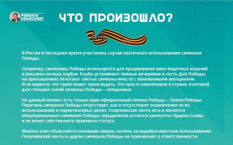 Депутат Госдумы предложил принять закон о статусе георгиевской ленточки