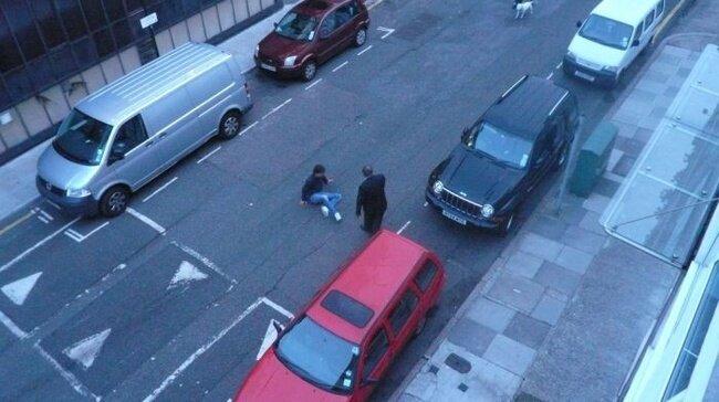 Как арестовали вора в Англии (12 фото)