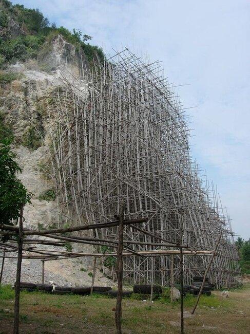Строительные леса в Азии (61 фото)