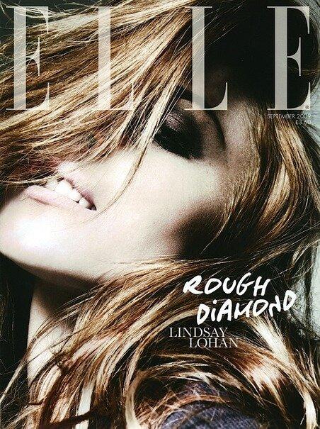 Линдси лохан для журнала ELLE (7 фото)