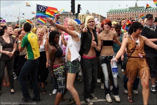 Гей-парад в Стокгольме (37 фото)