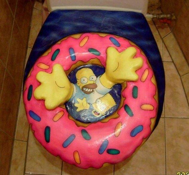 Туалет фаната Симпсонов (22 фото)