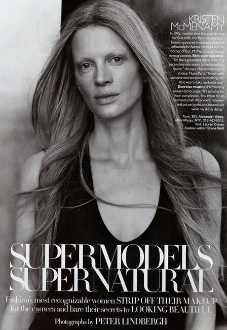 Супер модели без макияжа (7 фото)