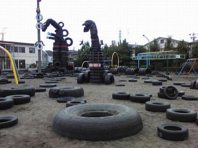 Специфический детский парк в Токио (14 фото)