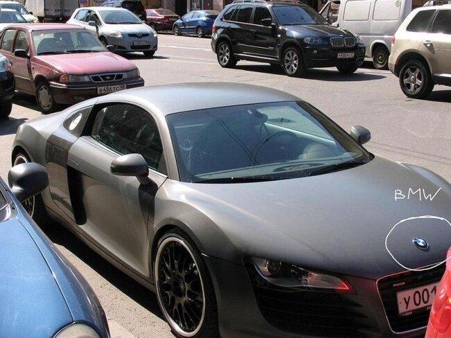 Была Audi R8, стала  BMW 850i (3 фото)