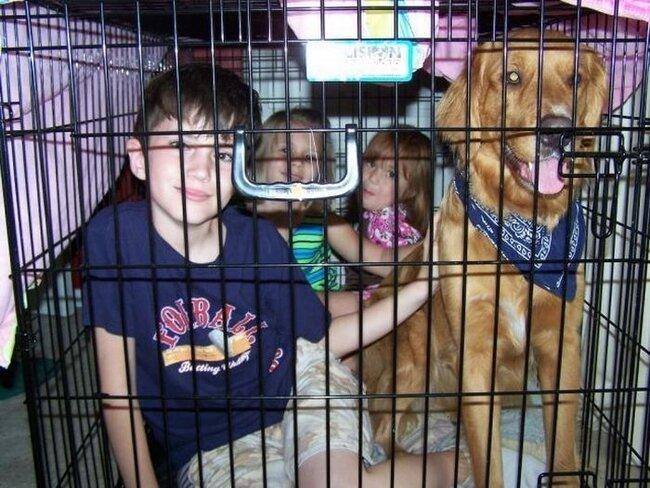Забавные фотографии детей в клетках (30 фото)