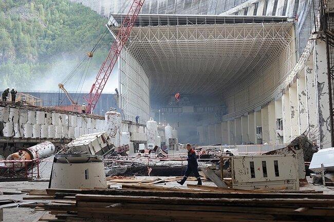Восстановительные работы на Саяно-Шушенской ГЭС (30 фото)