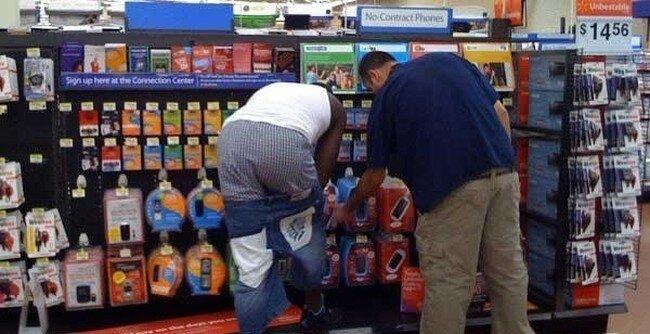 Интересные люди в супермаркетах. Часть 1. (15 фото)