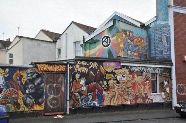 Граффити на улицах Бристоля (37 фото)