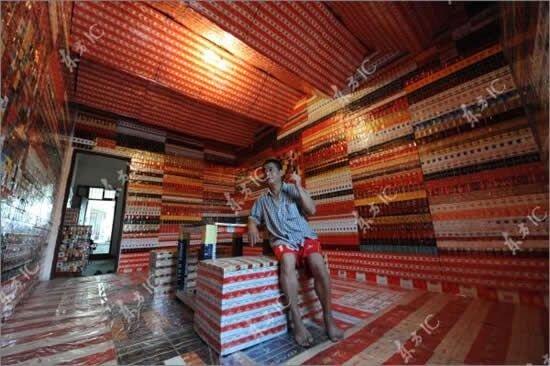 Дом из пачек из под сигарет (6 фото)