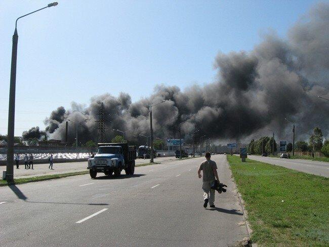 На Запорожском автозаводе произошел пожар (10 фото+видео)