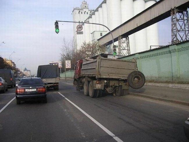 Вождение без колеса (16 фото)