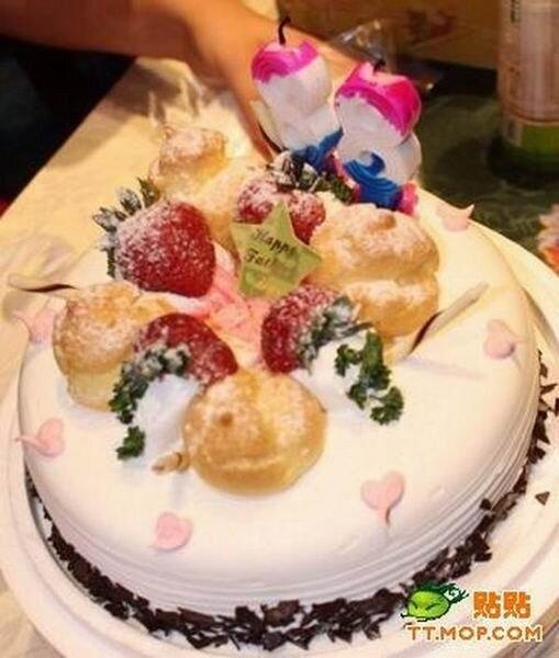Торт с сюрпризом (2 фото)