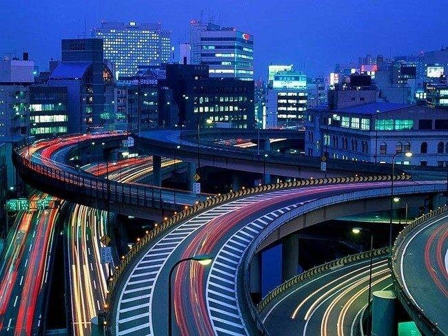Дорожные развязки в Японии (20 фото)