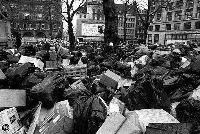 Забастовка мусорщиков в лондоне (5 фото)