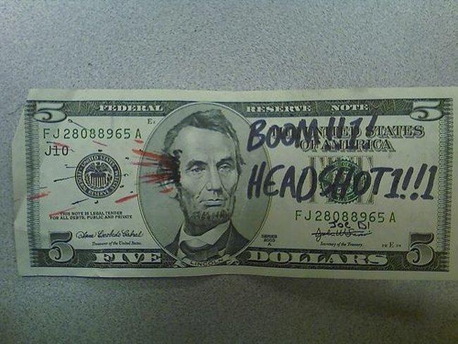 Разрисованные доллары (25 фото)