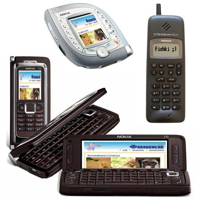 Эволюция мобильных телефонов (73 фото)