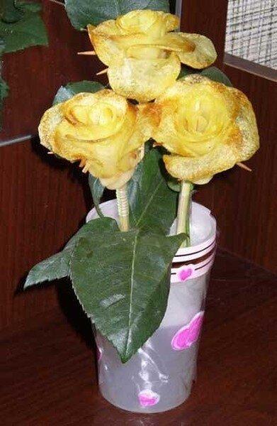 Картофельные розы (13 фото)