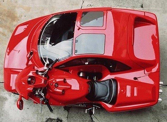 Автомобиль скрестили с мотоциклом (6 фото)
