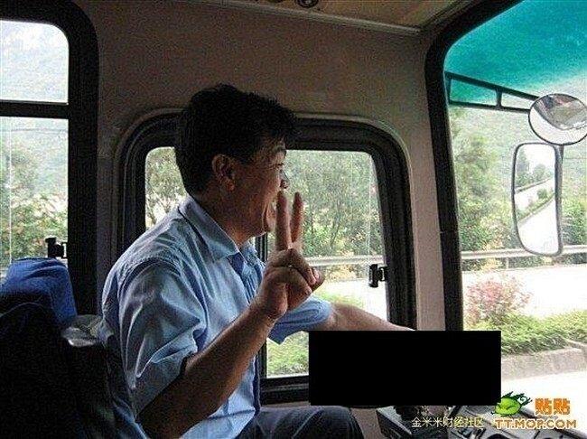 Китайский водитель автобуса (6 фото)