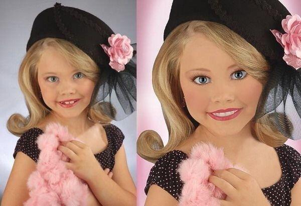Сделали из детей  куклы (6 фото)