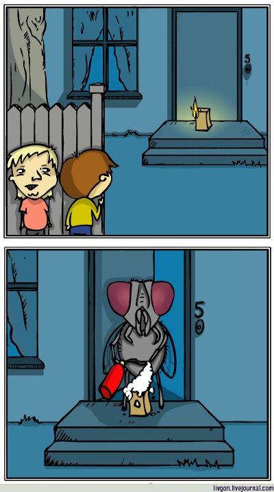 Комик с про муху и американскую шутку (1 фото)