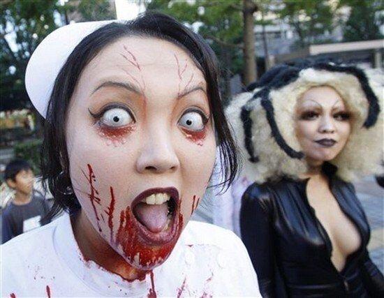 Хэллоуин в японии (35 фото)