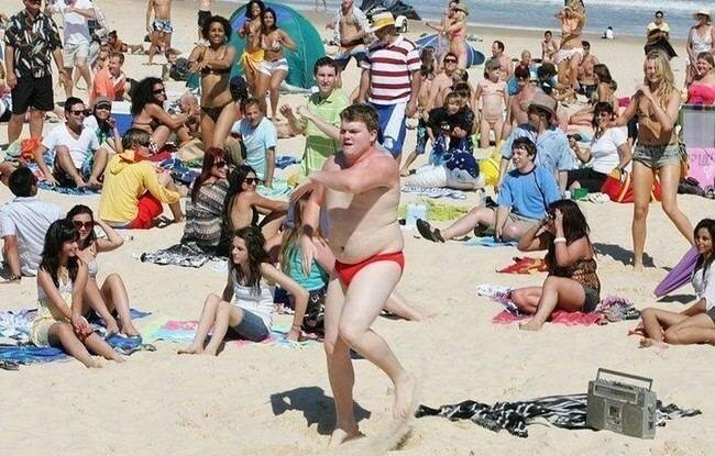Флэшмоб на пляже в Сиднее (5 фото + видео)