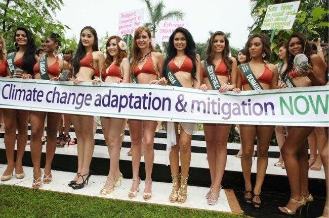 Мисс Земля выдвигает протест (15 фото)