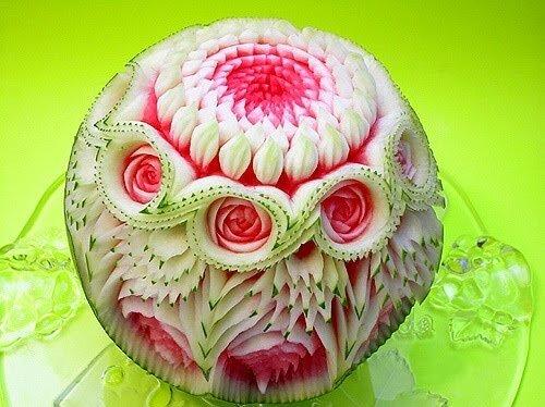 Художества из фруктов и овощей (38 фотографий)