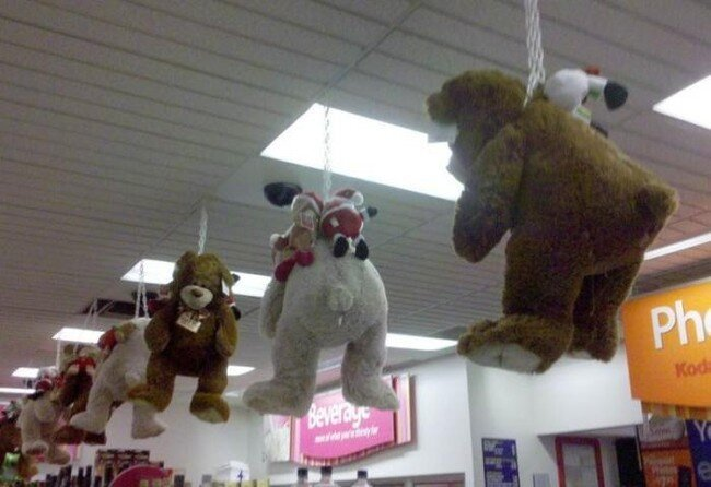 Детский отдел в супермаркете (2 фото)