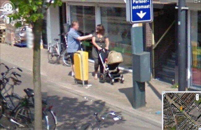 На Google Streetview запечатлена драка (3 фото)