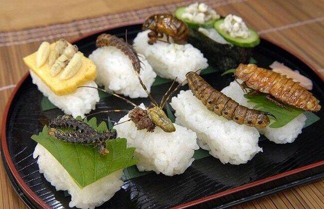 Суши с насекомыми (15 фото)