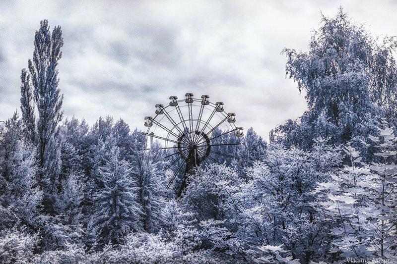 Инфракрасный Чернобыль: зона отчуждения в непривычных цветах