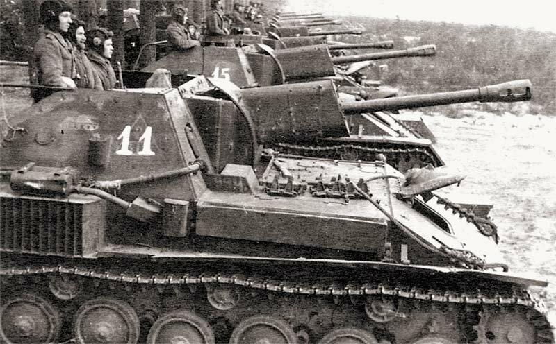 Лейтенантская жизнь в дни наступления недолгая. СУ-76
