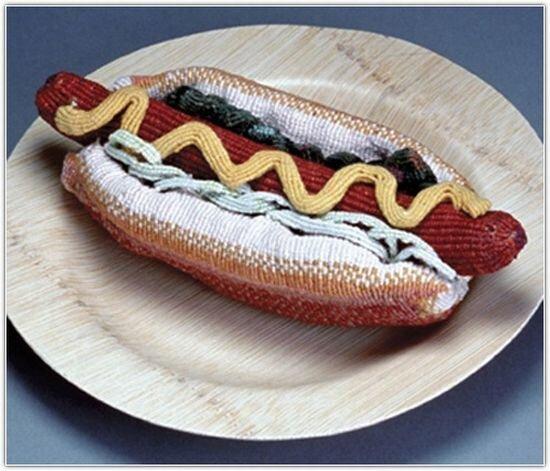 Вязанная еда (8 фото)