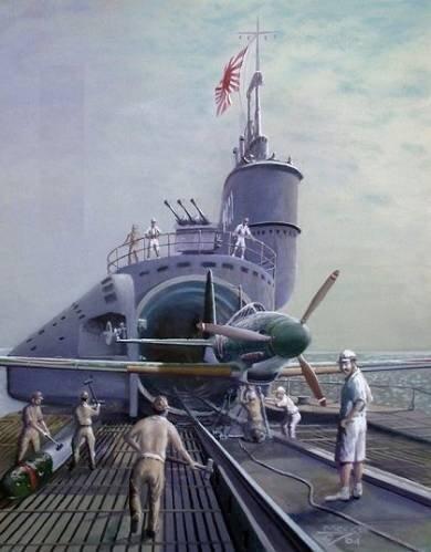 Подводные авианосцы (8 фото)