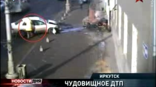 Страшное ДТП в Ирктуске (видео)