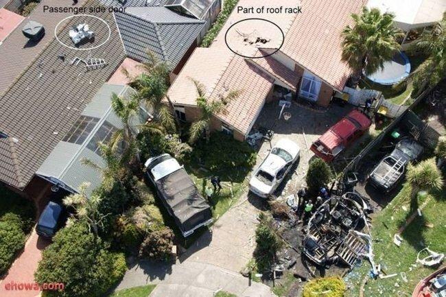 Взрыв ацетилена уничтожил автомобиль (10 фото)